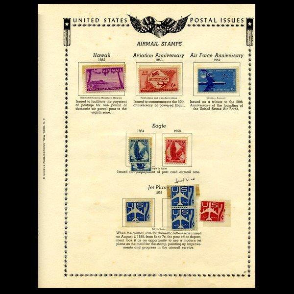 79: 1952 US Stamp Album Page 10pcs