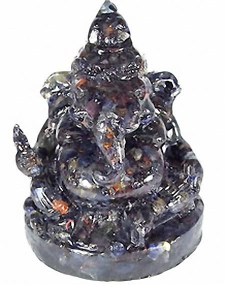 83: 670ct. Nice Blue Sapphire Ganesh Buddha Statue