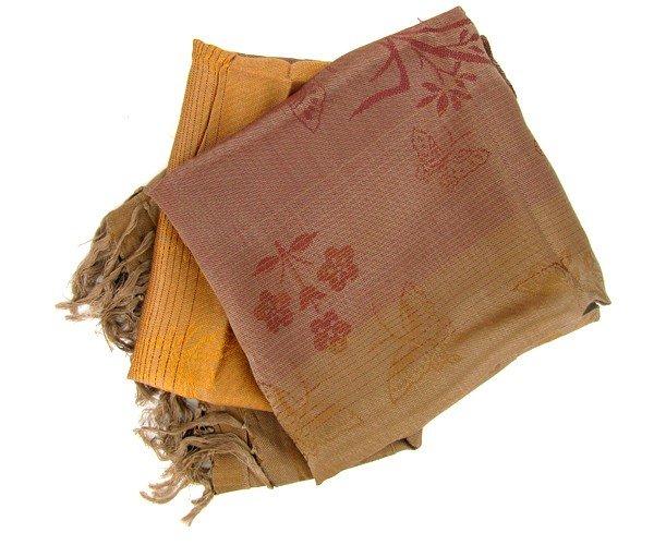 86: Laos Raw Silk Wall Tapestry