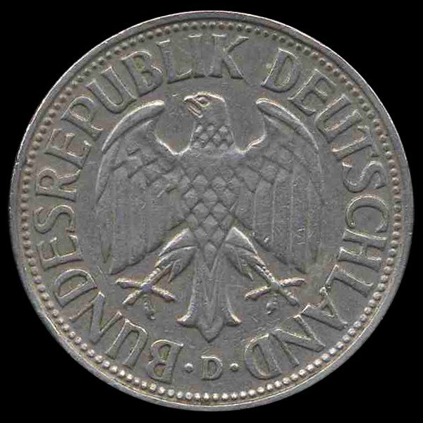 3: 1954D Germany 1 Mark Hi Grade RARE