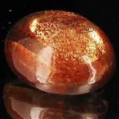 8A: 32.85ct Vibrant Sunstone Cabochon