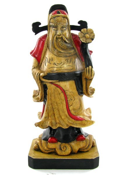 21: Hand Carved Marble Chinese Wise Man EST: $300 - $60