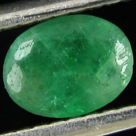 0.59ct Green Colombia Emerald Oval  EST: $36 - $72