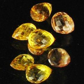 1.3ct Yellow Sapphire Briolette Parcel EST: $24 - $