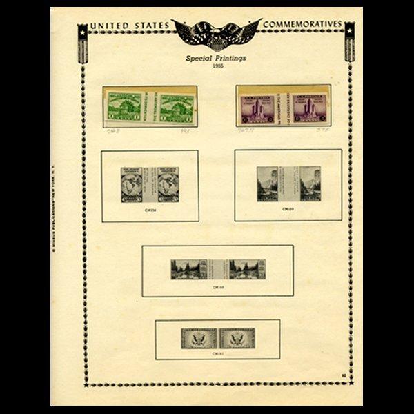 38: 1935 US Stamp Album Page 4pcs EST: $24 - $48 (STM-1