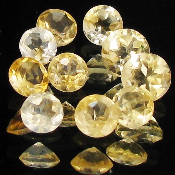 45: 5ct Lemon Citrine Round Parcel EST: $15 - $30 (GEM-