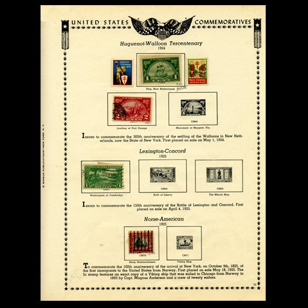47: 1924 US Stamp Album Page 6pcs EST: $21 - $42 (STM-1