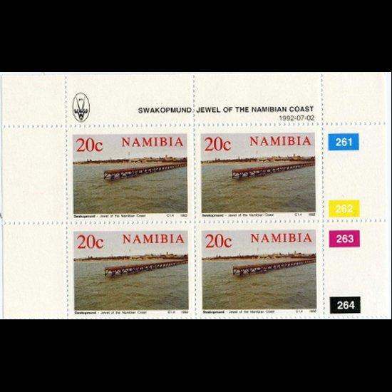 61: 1992 Namibia 20c Stamp 4-Block MINT NH EST: $9 - $1