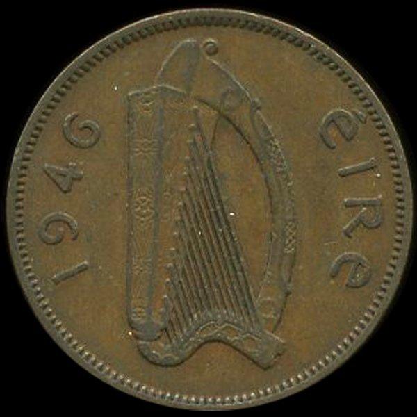 69: 1946 Ireland 1/2p AU EST: $54 - $108 (COI-10155)