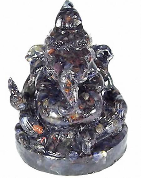 76: 670ct. Nice Blue Sapphire Ganesh Buddha Statue EST: