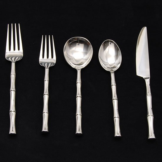 56A: Hand Forged Stainless Flat Ware Set 20 Pcs