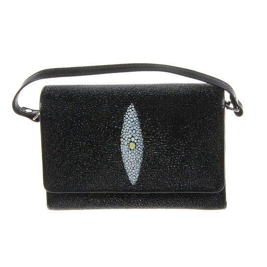 62A: Ladies Stingray Hide Clutch Purse Wallet