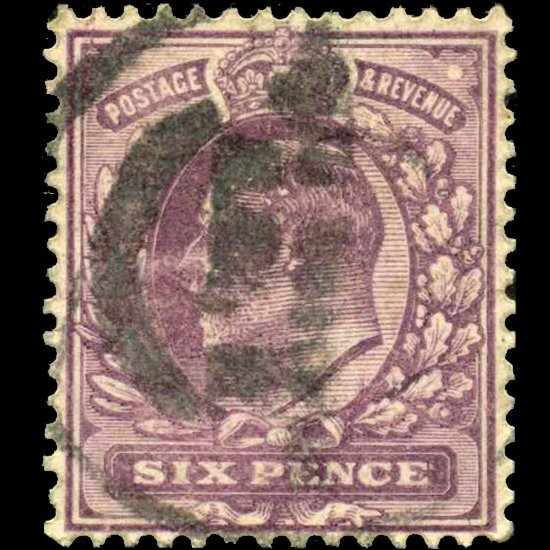 16: 1906 Britain Edward 6p Stamp EST: $30 - $60 (STM-07