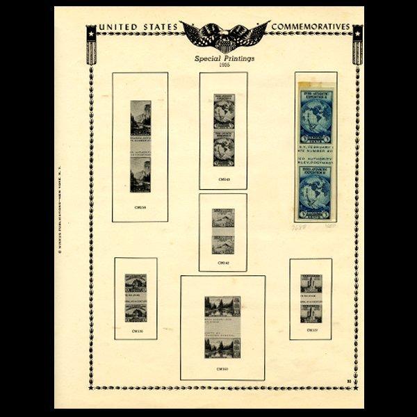 41: 1935 US Stamp Album Page 2pcs EST: $12 - $24 (STM-1