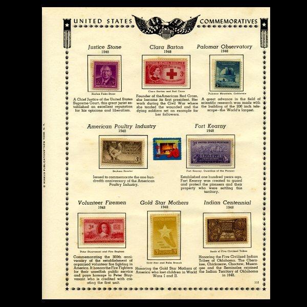 54: 1948 US Stamp Album Page 9pcs EST: $12 - $24 (STM-1