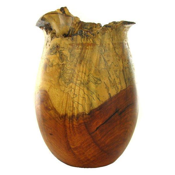 177: Afzelia Burl Handcarved Vase EST: $1250 - $2500 (D