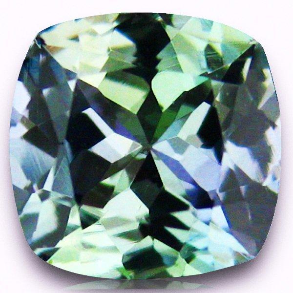 6: 0.97ct Flawless Unheated Green Blue Tanzanite