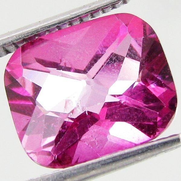 37: 4.88ct Mystic Pink Cushion Topaz