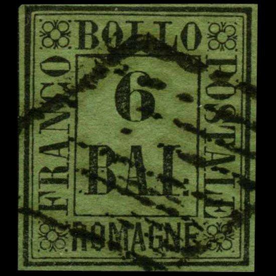 1347: 1859 Romagna 6b Stamp