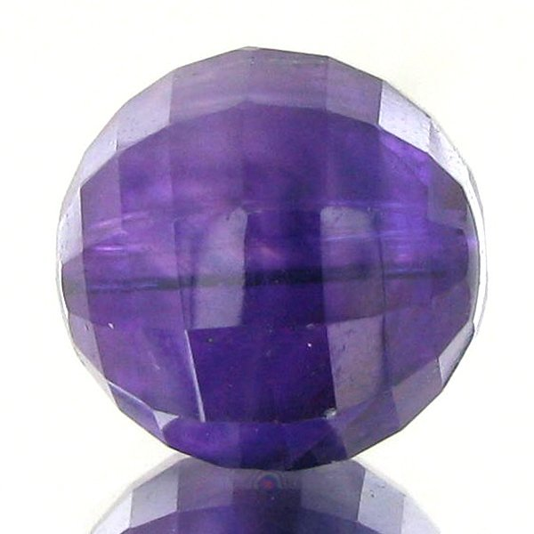 64: 10.55ct Faceted Uruguay Purple Amethyst Round Bead