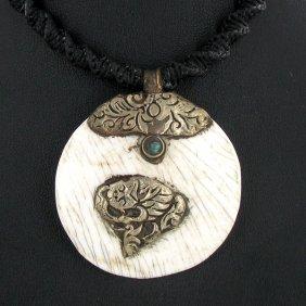 Tibet Bone Nickel Bead Choker Necklace