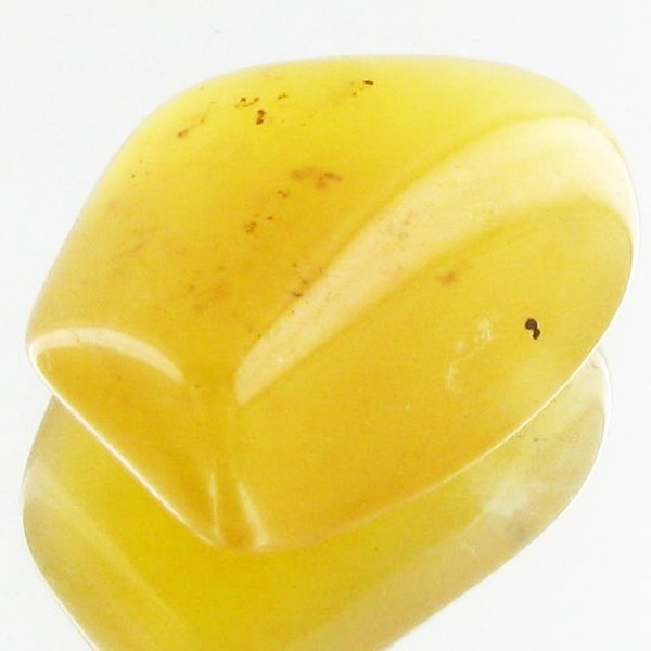 22: 21.5ct Yellow Opal Freeform Cabochon