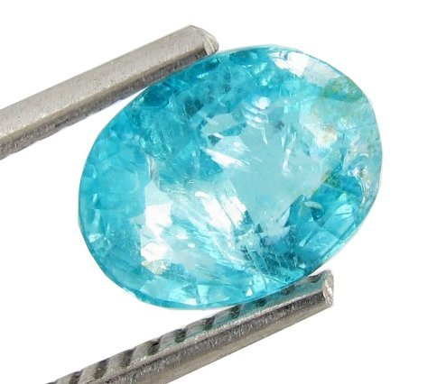 2.1ct Blue Green Neon Apatite Copper Bearing