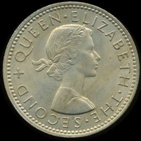 1964 New Zealand Shilling MS66+