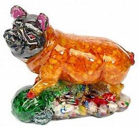 900ct Pig Statue Statue Fancy Sapphire~Topaz
