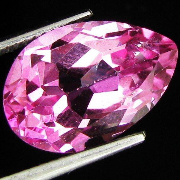 68: 8.57ct Mystic Pink Topaz Pear Brazil