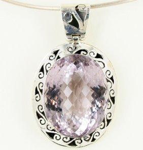 170twc Purple Pink Amethyst Sterling Pendant