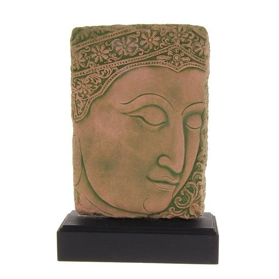 1551: Excellent Hand Cast Sandstone Buddha Face