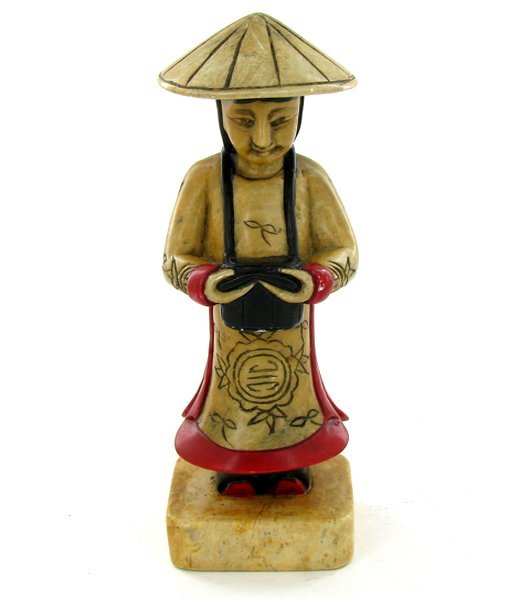 1558: Handcarved Marble Chinese Musician