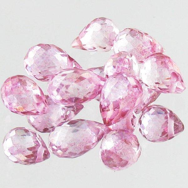 54: 10.2ct Pink Topaz Briolette Parcel