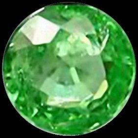 2Mm Vvs Round Cut Top Aaa Green Garnet Tanzania