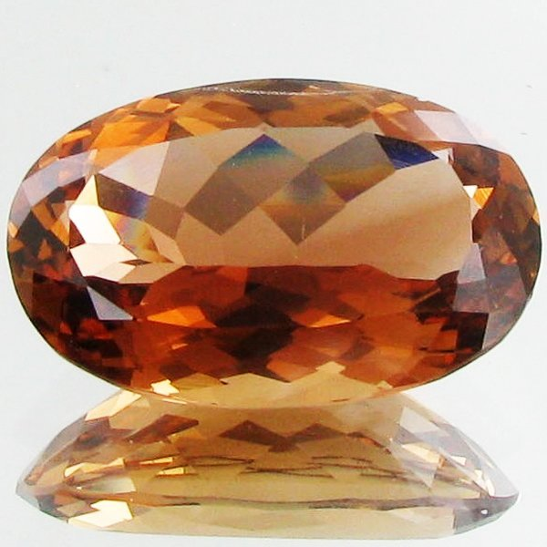 106: 36.10ct Natural Full Fire Imperial Topaz
