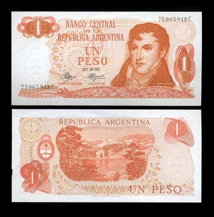 116: 1970 Argentina 1 Peso Note Crisp Uncirculated