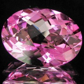 21.68ct Mystic Pink Oval Topaz