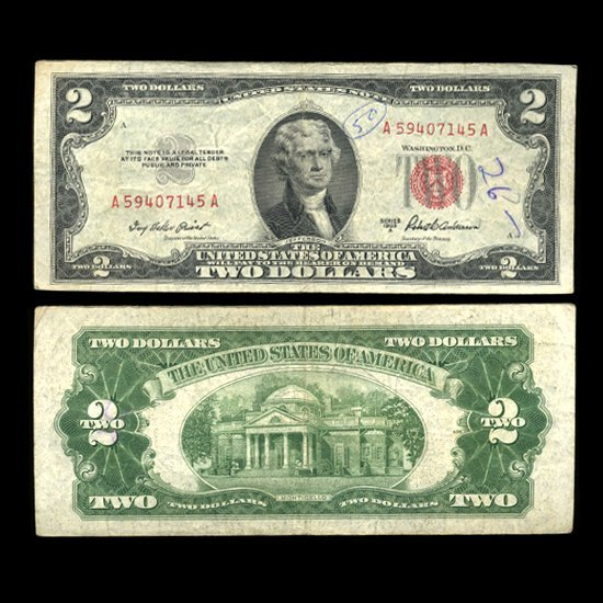 25: 1953A $2 US Note Nice Condition SCARCE