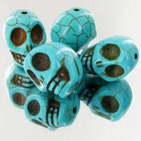 107.2ct Howlite Skull Beads