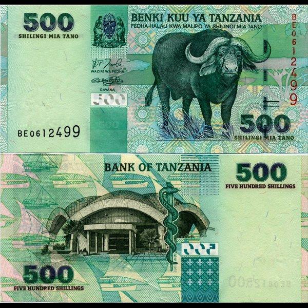 53: 2003 Tanzania 500 Shilingi Note Crisp Unc