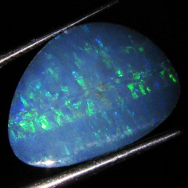 55: 4.15ct Australian Black Opal Doublet Full Fire