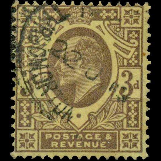 57: 1911 Britain Edward 3p Stamp