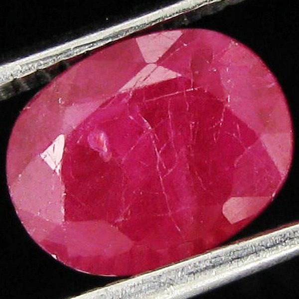 1.6ct Red Pink Burma Ruby Translucent Heat Only