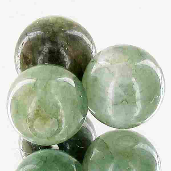 27.33ct Green Jade Beads Parcel