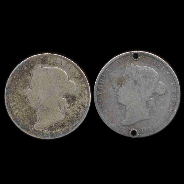 1874 & ???? Canada 25c 2 Pcs