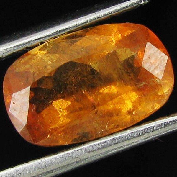 1.65ct Mandarin Fire Orange Clinohumite Oval