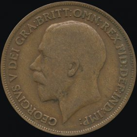 1913 Britain 1p F/VF ERROR