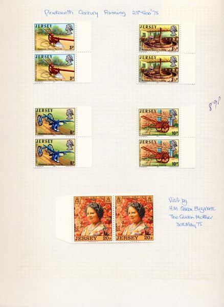 1975 Jersey Mint Stamp Album Page
