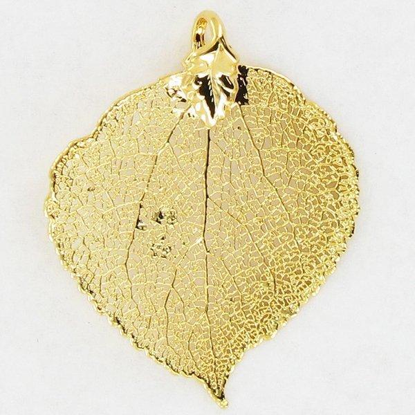 Gold Filled Aspen Leaf Pendant